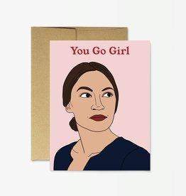Party Mountain Paper Co AOC You Go Girl Card