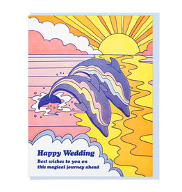 Lucky Horse Press Happy Wedding Dolphins