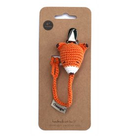 Cheengoo Crochet Fox Pacifier Clip