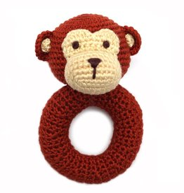 Cheengoo Monkey Crochet Rattle