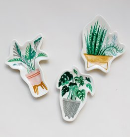 Ceramic Plant Trinket Dish