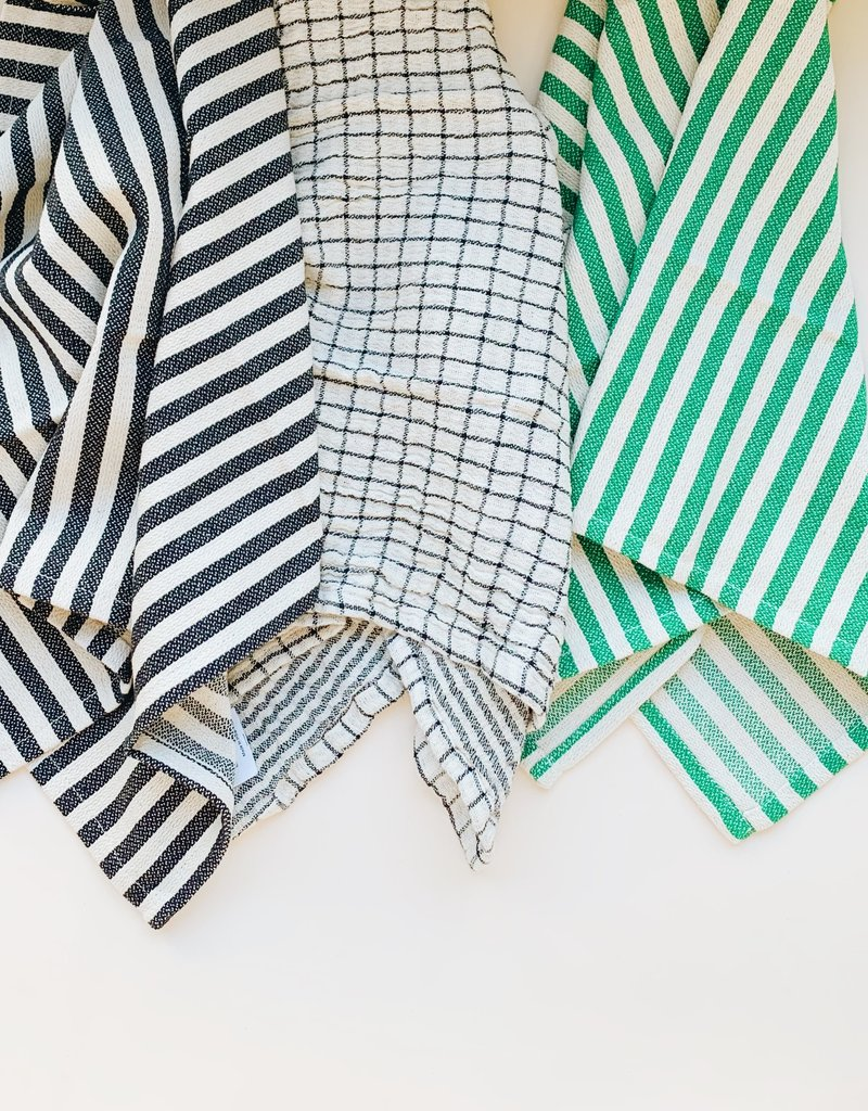 Stripe Grid Trio Tea Towels