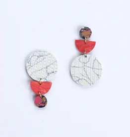 Rover & Kin Swicheroo Clay Earrings Peach
