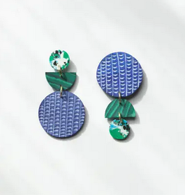 Rover & Kin Rover & Kin | Swicheroo Clay Earrings Rainforest