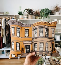 Broderpress Ridgewood Rowhouse Pillow