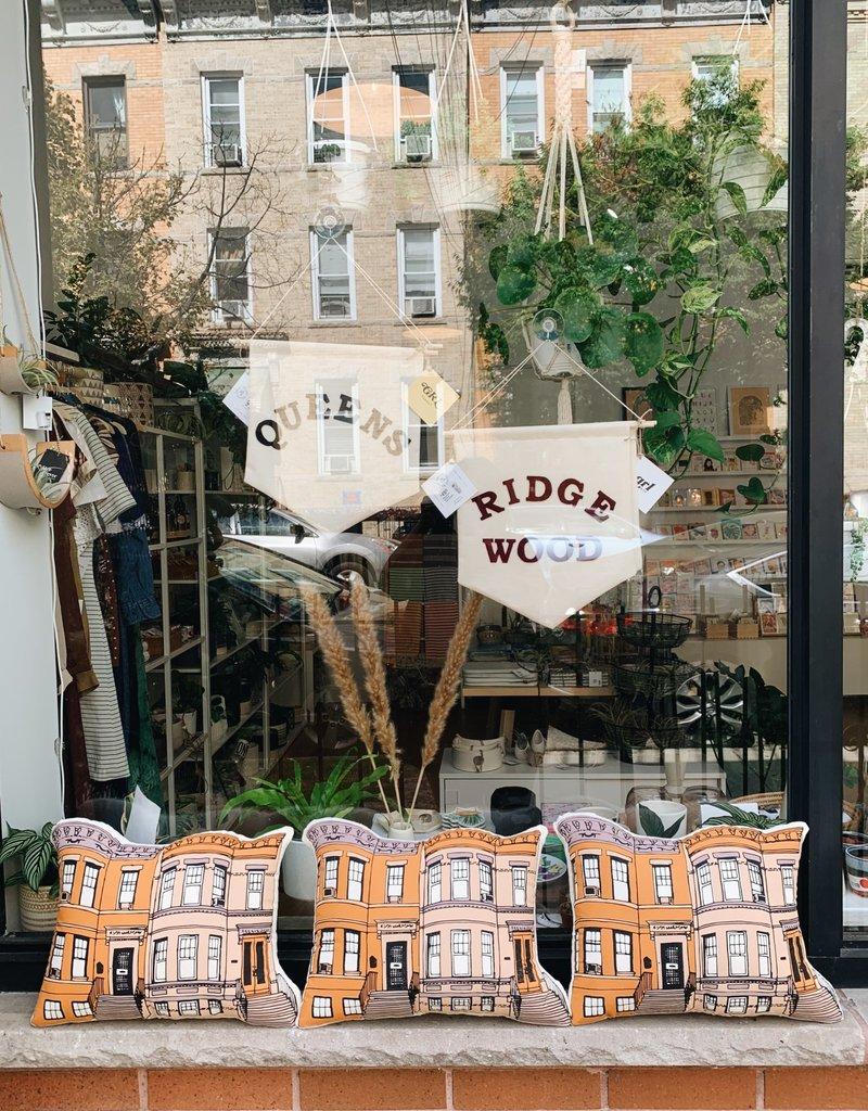 Broderpress Broderpress | Ridgewood Rowhouse Pillow