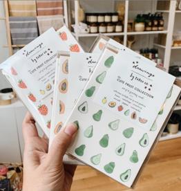 Drawings By Renee Cute Fruit + Flora & Fauna Boxed Card Set