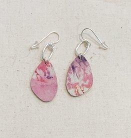 Sol Proaño Sol Proaño | Cuero Earrings #3 (Tie Dye Pink)