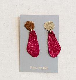Sol Proaño Sol Proaño | Cuero Earrings #11 (Pink Sparkle)