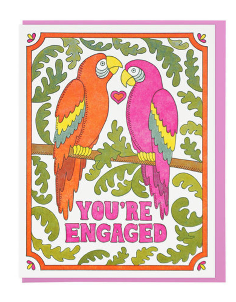 Lucky Horse Press Lucky Horse Press | You're Engaged Macaws