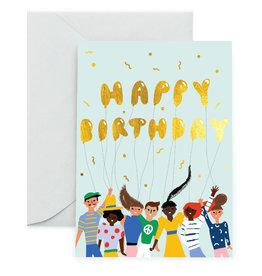 Carolyn Suzuki Happy Birthday Gold Balloons
