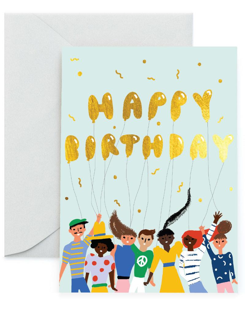 Carolyn Suzuki Carolyn Suzuki | Happy Birthday Gold Balloons