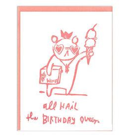 Ghost Academy Birthday Queen Card