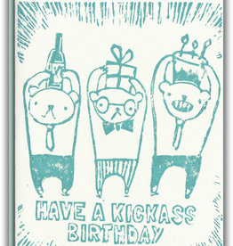 Ghost Academy Kickass Birthday Card