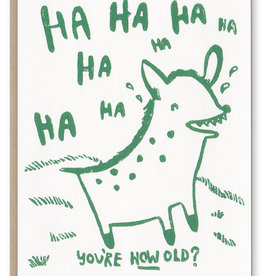 Ghost Academy Hyena You're How Old Card