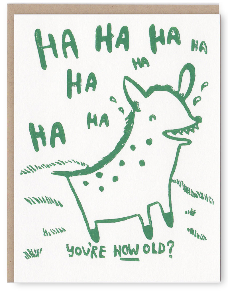 Ghost Academy Ghost Academy |Hyena You're How Old Card
