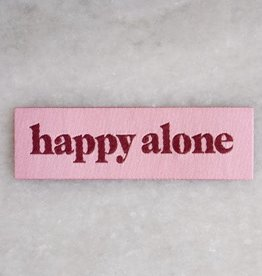 Stay Home Club Happy Alone Iron-On Patch