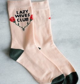 Stay Home Club Lazy Wives Club Socks