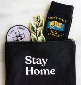 Stay Home Club Stay Home Canvas Pouch