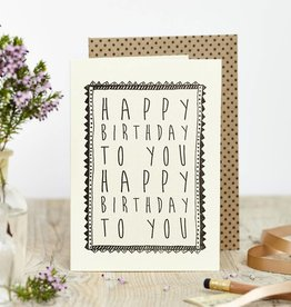 Katie Leamon Happy Birthday to You Card