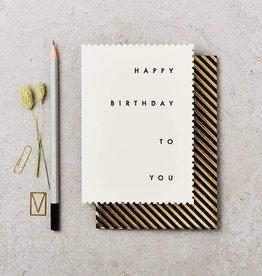 Katie Leamon Deco Happy Birthday Card