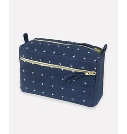 Anchal Small Navy Toiletry Bag