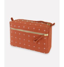 Anchal Small Rust Toiletry Bag