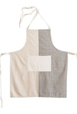 Grey/Natural Striped  Apron