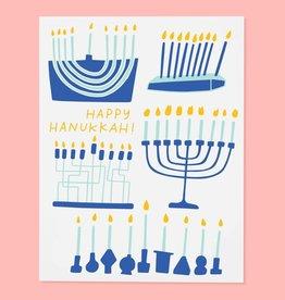 The Good Twin Menorahs Hanukkah Card (Box of 6)