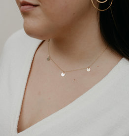 Tumble Tumble | Sterling Silver 5 Disc Choker Layering Necklace