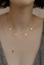 Tumble Tumble   Dainty Disc Necklace