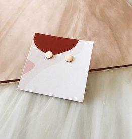 Tumble Tumble |Gold Filled Dot Stud Earrings