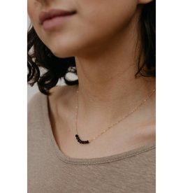 Tumble Tumble | Onyx Tiny Stones Necklace