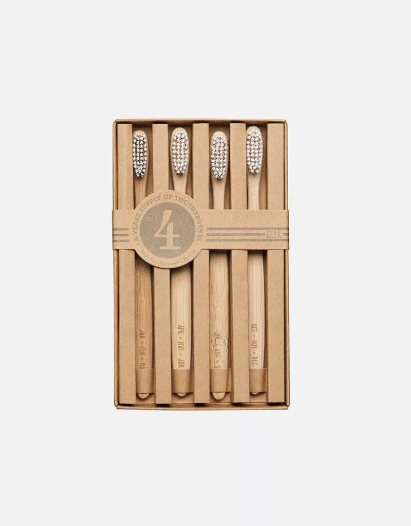 Bamboo Toothbrushes (set of 4)