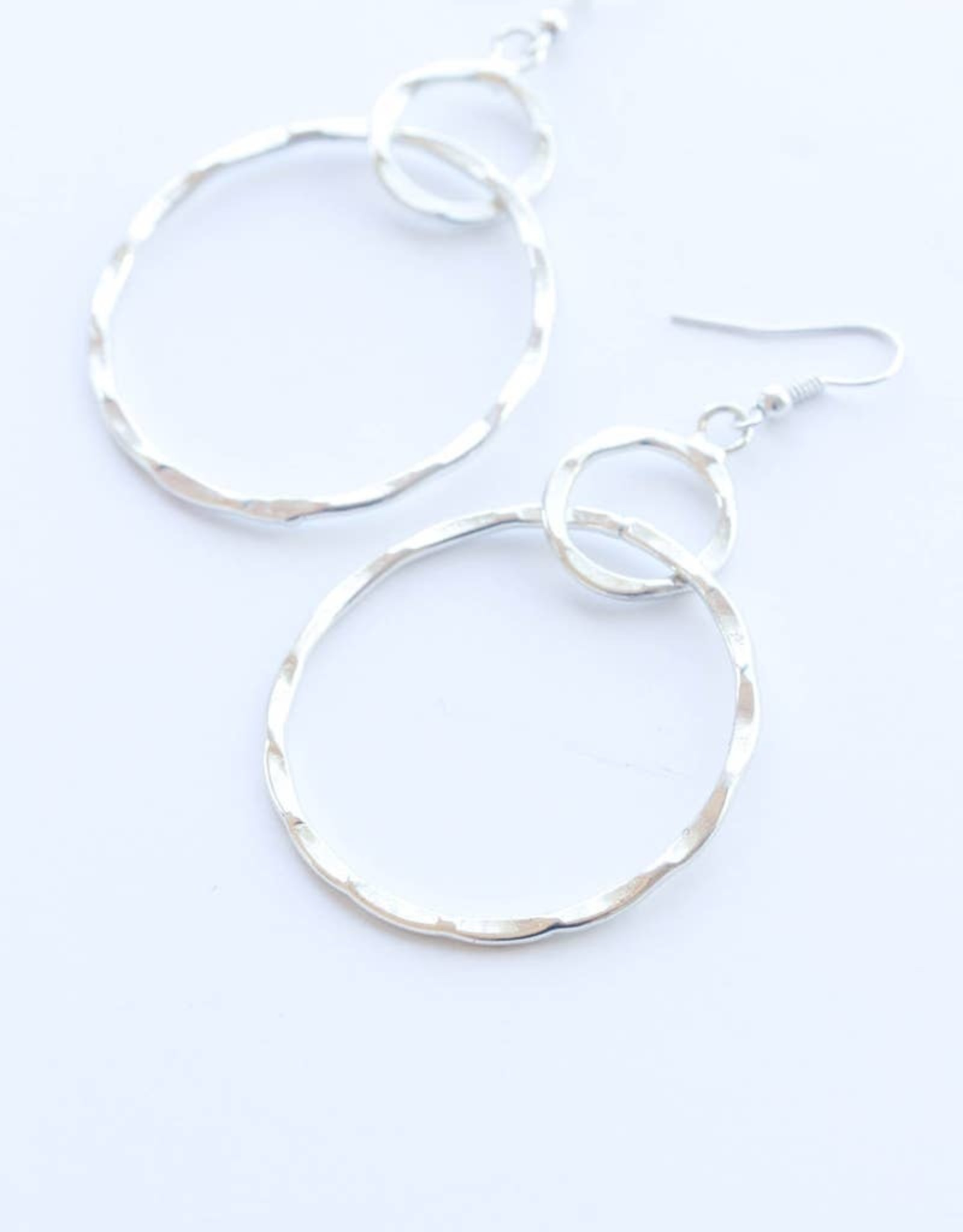 Rover & Kin Rover & Kin   Hammered Circles Earrings (Silver)