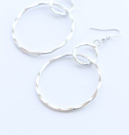 Rover & Kin Rover & Kin | Hammered Circles Earrings (Silver)