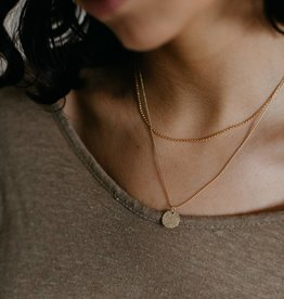Tumble Layered Necklace (14k gold filled)