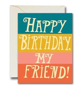 Native Bear Happy Birthday Friend Card
