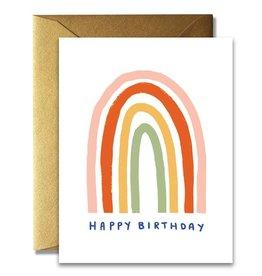 Native Bear Simple Rainbow Birthday Card