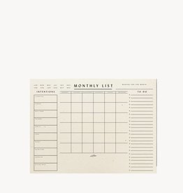 Wilde House Paper Monthly List Pad