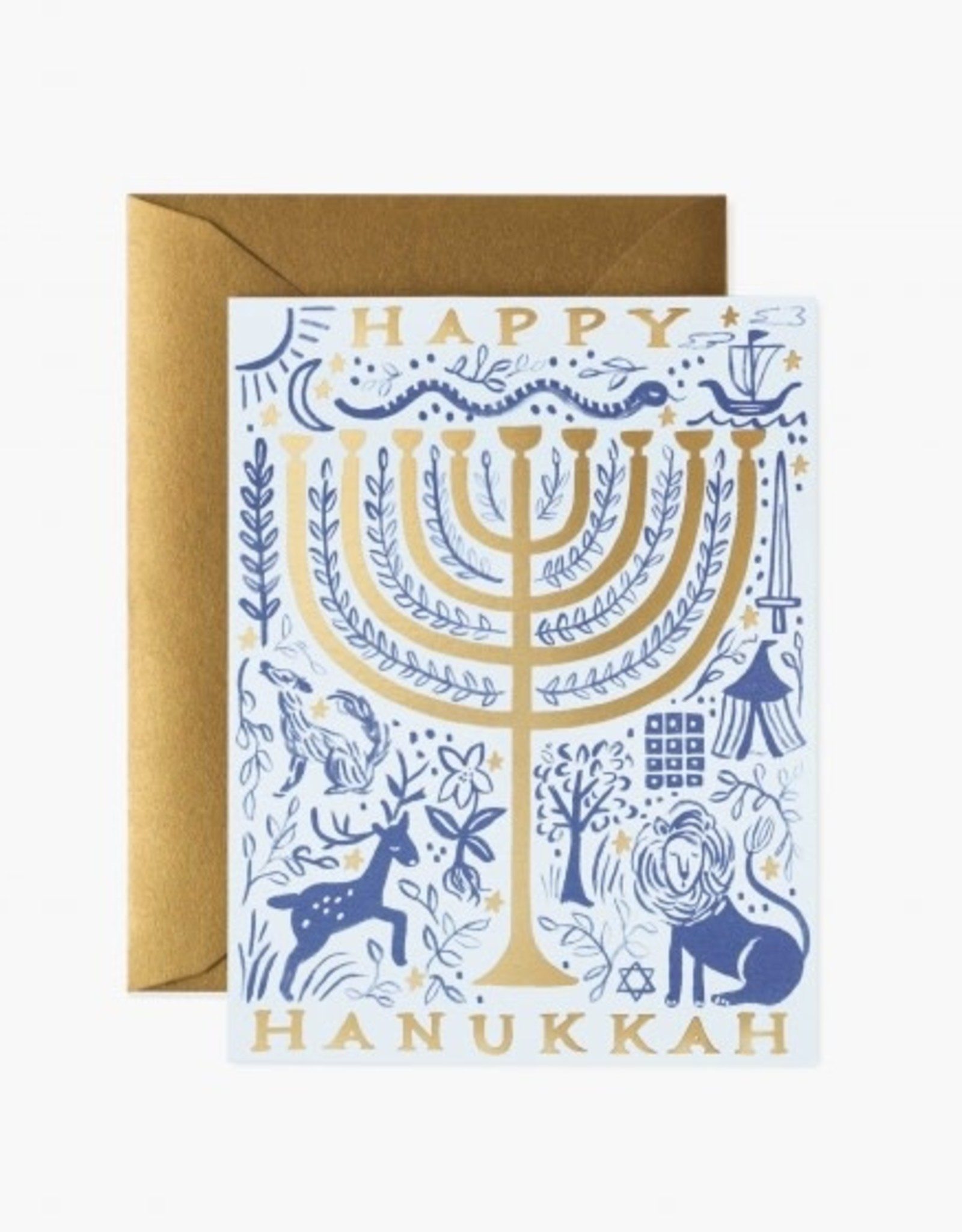 Rifle Paper Co. Rifle Paper| Happy Hanukkah Gold Foil
