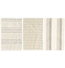 Creative Co-Op Cotton Stripe Tea Towels (Set of 3)
