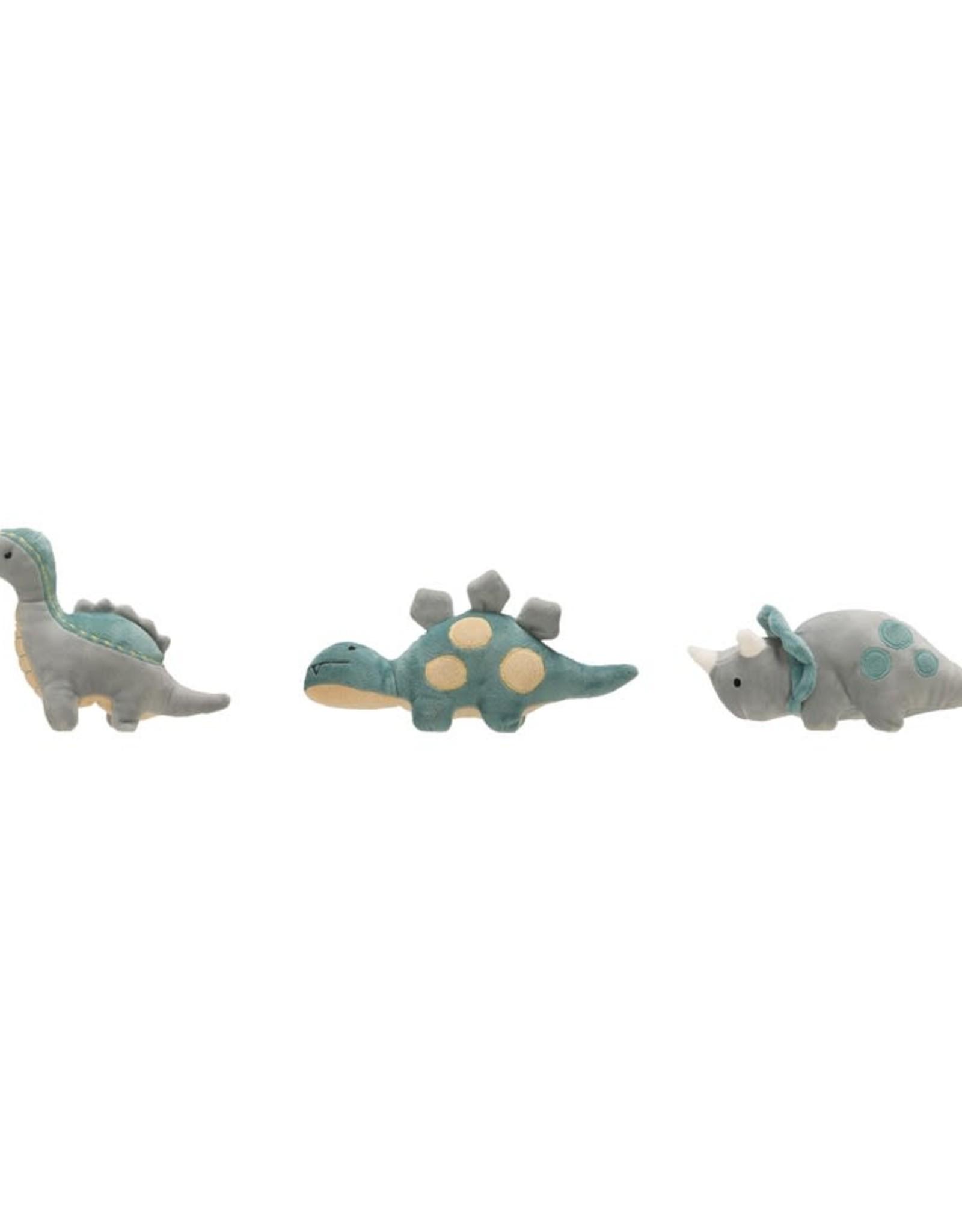 Creative Co-Op Dinosaur Plush Rattles