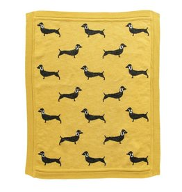 Creative Co-Op Dachshund Knit Baby Blanket