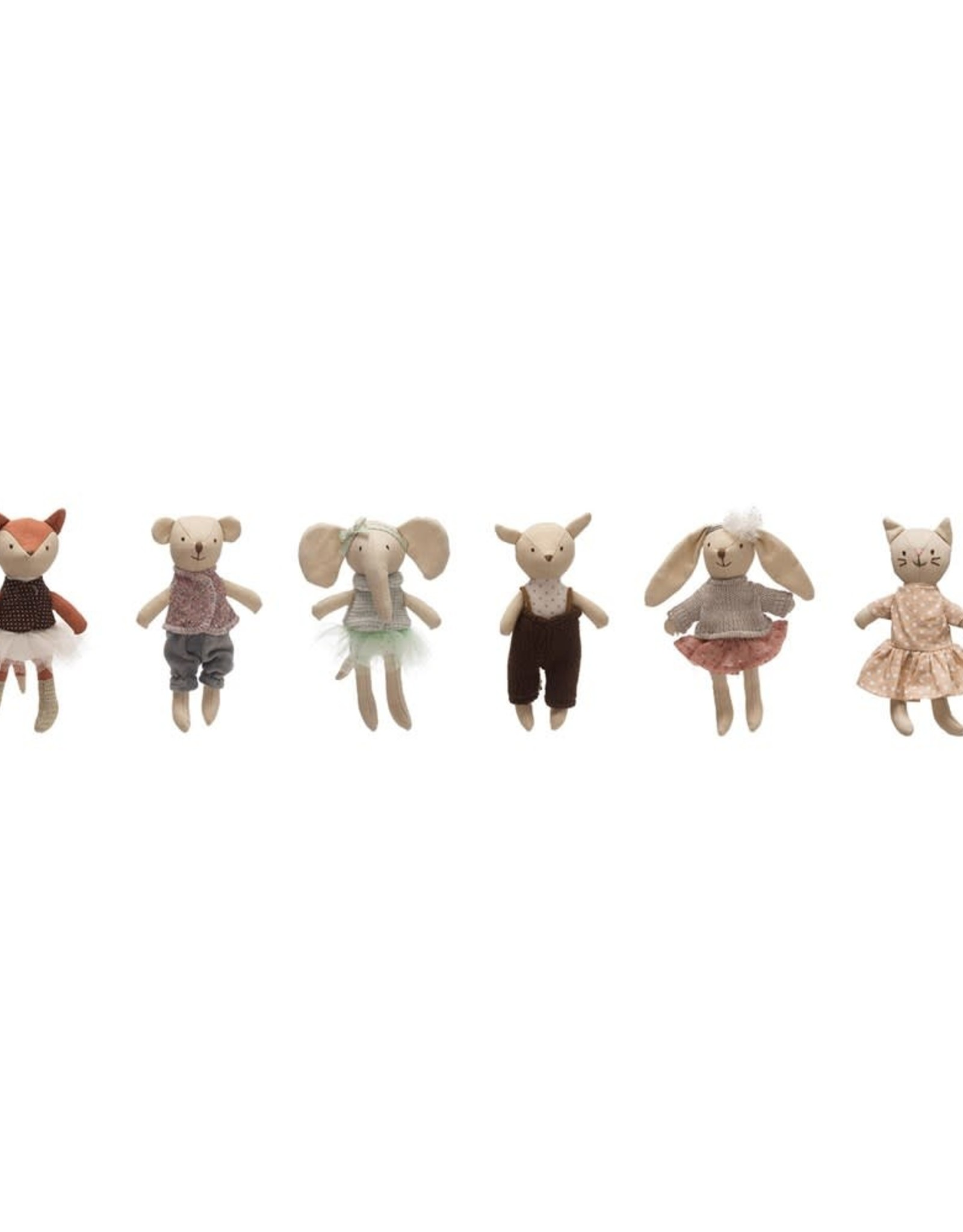 Creative Co-Op Stuffed Linen Animals