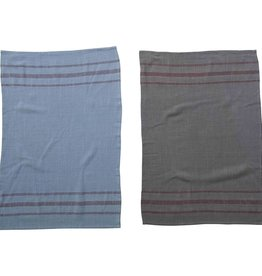 Creative Co-Op Overdyed Striped Tea Towel