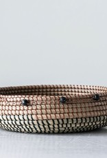 Creative Co-Op Beaded Seagrass Basket
