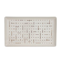 Creative Co-Op Sketch Dots Catchall Tray