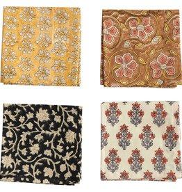 Creative Co-Op Cotton Floral Print Napkins - Set of 4