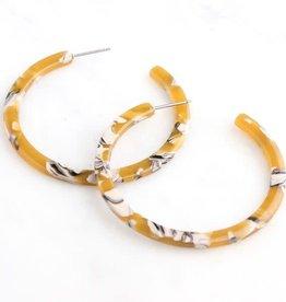 Marigold Marbled Hoop Earrings